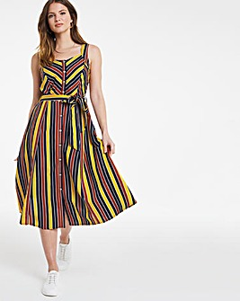 Julipa Stripe Linen Sun Dress