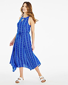 Julipa Keyhole Neck Print Dress