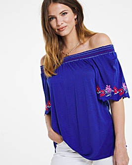 Julipa Gypsy Top with Embroidery