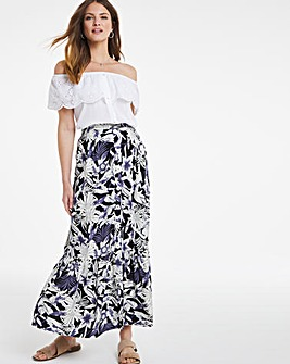 Julipa Mock Button Frill Skirt
