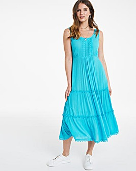 Julipa Crochet Trim Crinkle Dress