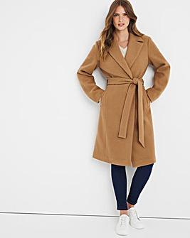 Julipa Midi Length Wrap Coat