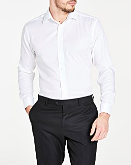 Paradigm White Long Sleeve Double Cuff Shirt