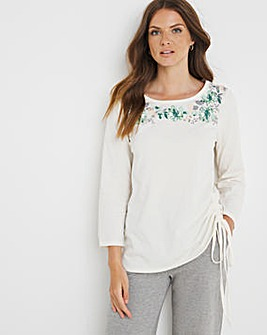 Julipa Leisure Ruched Front Top