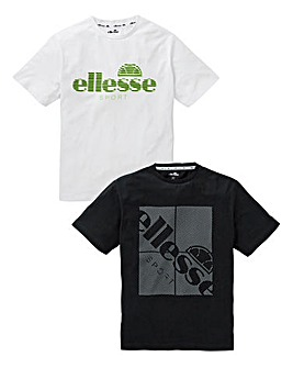 Ellesse 2 Pack of T-Shirts Reg