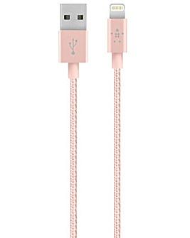 Belkin Lightning Cable for Apple Rose