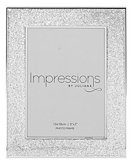 Impressions Frame with Glitter Band 5x7