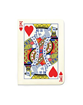 King of Hearts A6 Notebook