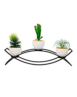 Moroccan Black Metal Plant Holder