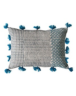 Advika Block Print Cushion Teal