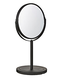 Matt Black Pedastal Mirror