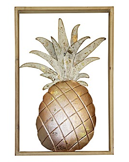 Pineapple Metal Frame Wall Art
