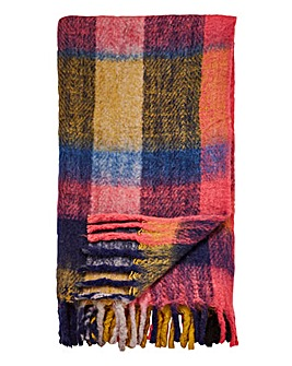 Joe Browns Faux Mohair Check Throw