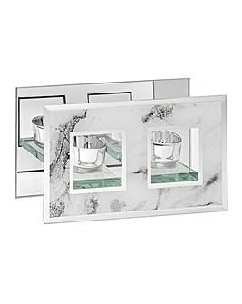 MIrror Marble Tealight Double