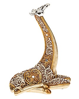 Filigree Gold Giraffe Lying Small