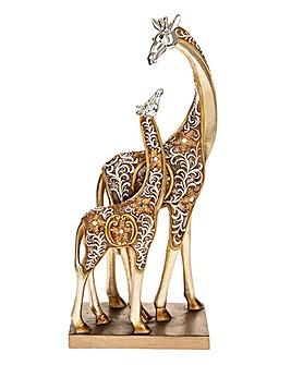 Filigree Gold Giraffe Mum Baby