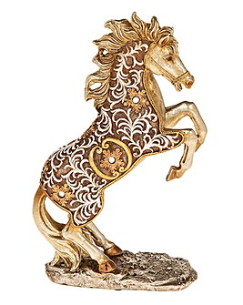 Filigree Gold Rearing Horse Small