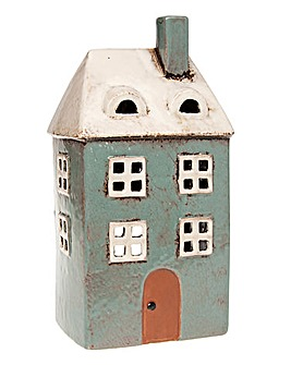 Village Pottery Tall House Tealight