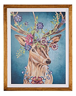 Joe Browns Floral Stag Wall Art