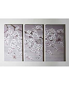 Set of 2 Blossom Hand Painted Canvases