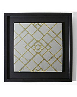 Dark Poetry Square Glitter Mirror