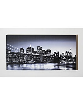 Manhattan Monochrome Printed Canvas