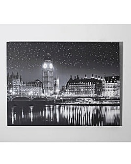London Monochrome Printed Canvas