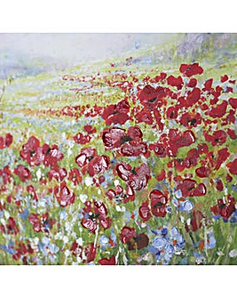Hand Painted Poppies Canvas