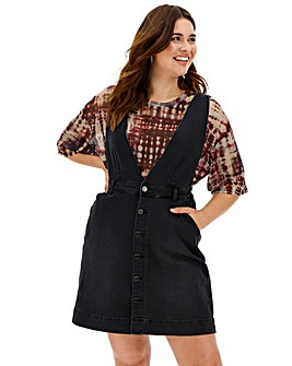 Deep V Pinafore Dress