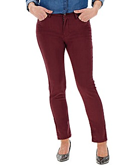Aubergine Sadie Super Soft Slim Jeans