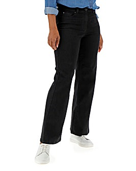 24/7 Black Wide Leg Jeans Regular Length