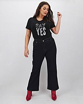 24/7 Indigo Wide Leg Jeans