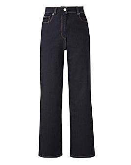24/7 Indigo Wide Leg Jeans Regular