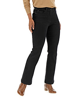 Petite 24/7 Black Bootcut Jeans