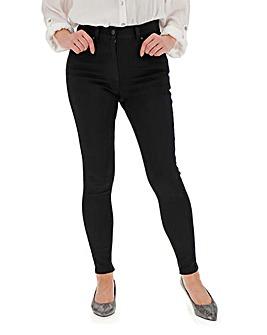 24/7 Black Skinny Jeans Petite
