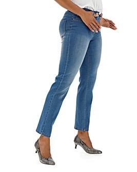 24/7 Blue Straight Leg Jeans Petite