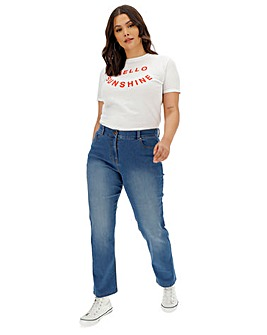 24/7 Blue Straight Leg Jeans Regular