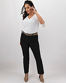 24/7 Black Straight Leg Jeans Regular Length