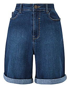 24/7 Blue Denim Shorts