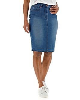 24/7 Blue Denim Skirt