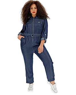 Indigo Soft Tencel Denim Boilersuit