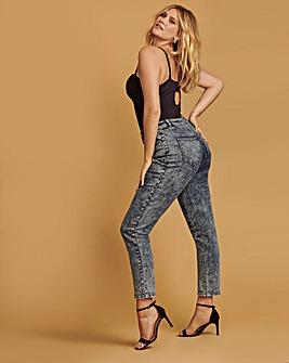 Blue Acid Demi High Waist Mom Jeans