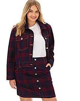 Red Checked Co-Ord Jacket