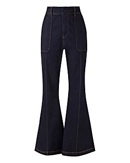 Indigo High Waisted Kickflare Jeans