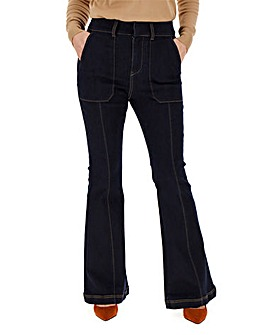 Indigo High Waisted Kickflare Jeans