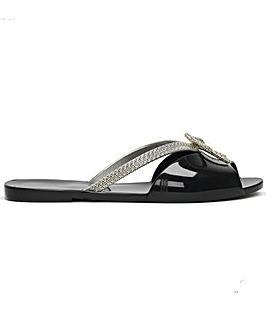 Melissa Ela Glam Bow Flip Flops