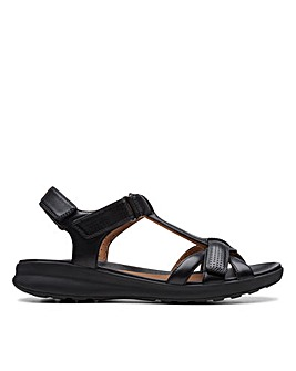 Clarks Unstructured Un Adorn Vibe Wide Fitting Sandals