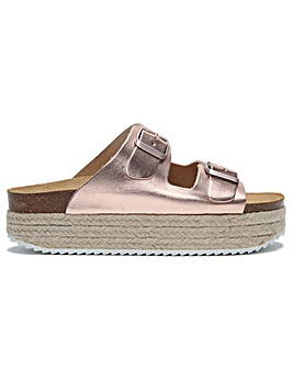 Daniel Hasley Leather Espadrille Mules
