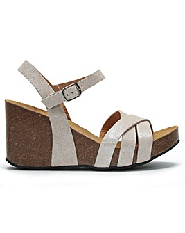 Daniel Beverlywood Leather Wedge Sandals