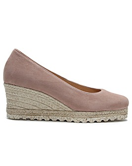 Daniel Meroda Suede Wedge Court Shoes